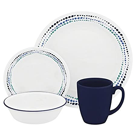 Corelle Livingware 16-Piece Dinnerware Set Ocean Blues Service for 4  sc 1 st  Amazon UK & Corelle Livingware 16-Piece Dinnerware Set Ocean Blues Service for ...