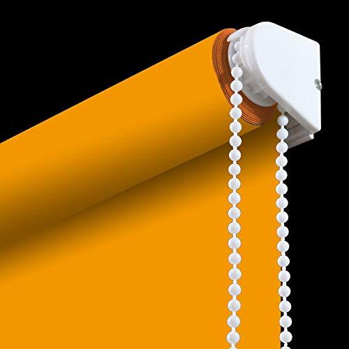 Orange Light Filtering Blinds - PASSENGER PIGEON Blackout Window Shades, Premium Adhesive Light Filtering UV Protection Custom Roller Blinds, 24