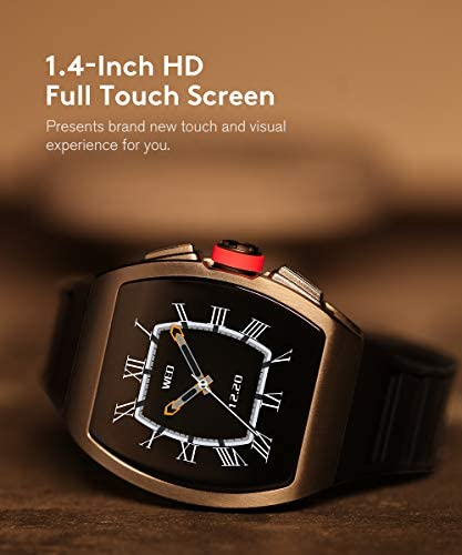 Smart Watch for Android and iOS Phones, Smart Watches for Men, Smartwatch with Heart Rate and Blood Pressure Monitor, Fitness Watch IP68 Waterproof, Step Sleep Tracker Message Reminder, Mens Watches 3