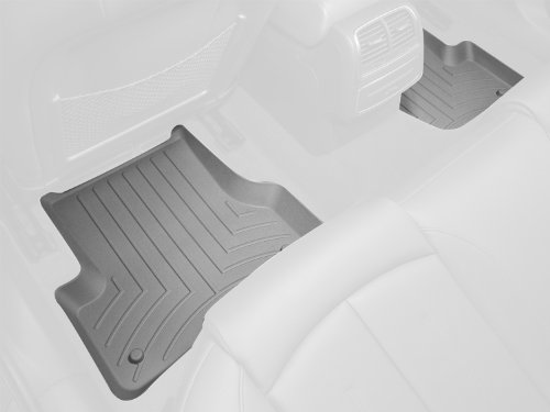 WeatherTech Custom Fit Rear FloorLiner for Toyota Tundra Double Cab, Grey