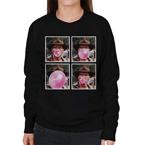 7 7 7 Black Black Black Black Bubblegum Jones Indiana City Cloud Women's Sweatshirt 8P4C0