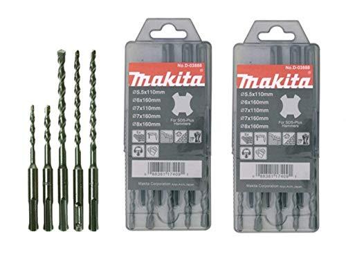 Makita D-03888 Standard SDS Plus Bohrer-Set, 5-teilig, 2 Stück