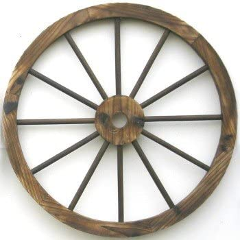 Western Wood Wagon Wheel Wall Decor