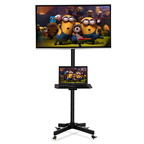 Toolsempire Height Adjustable Mobile TV Cart Rolling TV Stand for 19'' to 37'' Universal LCD LED Plasma Flat Panel Screens Within 200x200mm up to 44lbs with Shelf & Wheels by Toolsempire (Image #7)
