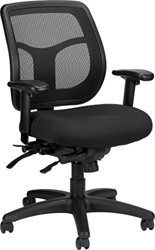 llo MFT945SL Multi function Swivel Chair with Seat Slider, Black (Eurotech Multifunction Task Chairs)