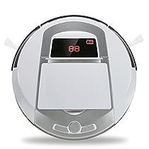 FD-3RSW(1B)CS Aspirapolvere Robotico Casa Intelligente Pulitore Pelo Animale, sporco, Rimozione Polvere quotidiana, Nero