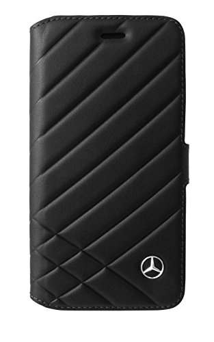 """Mercedes MEFLBKP7LCLIBK """"PATTERN II"""" Genuine Leder Booktype Schutzhülle für Apple iPhone 7 Plus schwarz"""