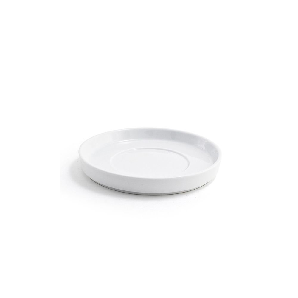 Front of the House DCS014WHP23 Soho Saucer, 0.75'' Height, 5.75'' Diameter, Porcelain, White (Pack of 12)