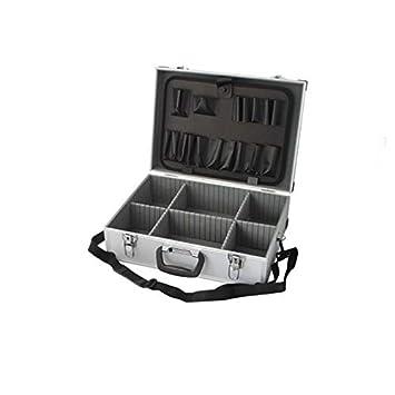 395 x 300 x 130 mm Meister Werkzeugkoffer leer Abschlie/ßbar // Werkzeugkiste // Organizer // Alu-Koffer leer // 9095130 Verst/ärkter R/ücken Individuelle Fachaufteilung