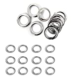 Weddecor 20mm Silver Brass Eyelets Grommets with Washers for Yoga Mat, Tarpaulin, Pool covers, Vinyl Banners, DIY Projects, 100pcs