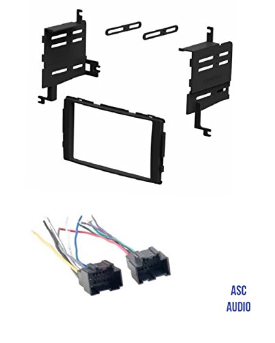 ASC Audio Car Stereo Radio Install Dash Kit and Wire Harness for installing an Aftermarket Double Din Radio for 2007 - 2008 Hyundai Santa Fe without Factory Navigation ()