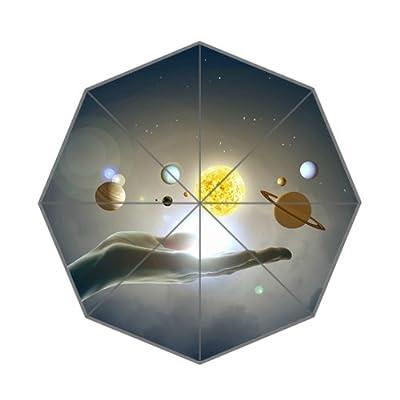 110,2x 65cm Intéressant l'univers en main Parapluie