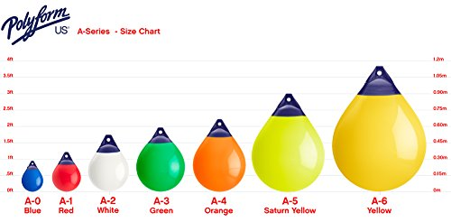 "Polyform A-0 Yellow A Series Buoy - 8"" x 11.5"", Yellow"