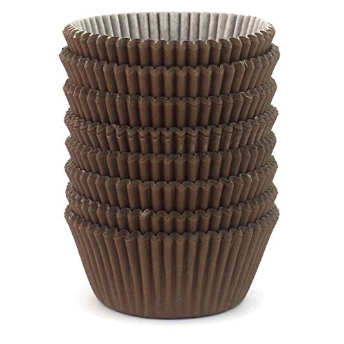 Eoonfirst Standard Size Baking Cups 200 Pcs (Brown) ()