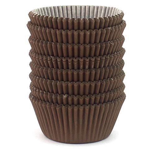 Eoonfirst Standard Size Baking Cups 200 Pcs (Brown)