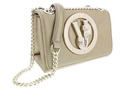 Versace Leather Shoulder Bag - Versace Gold Compact Shoulder Bag-EE1VTBBM4 E901 for Womens