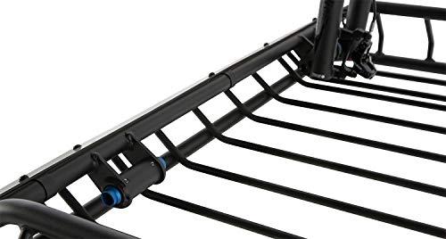 (Rhino-Rack USA RMCB03 Roof Mount Cargo Basket 58.27 in. x 42.91 in. x 5.91 in. Roof Mount Cargo Basket)