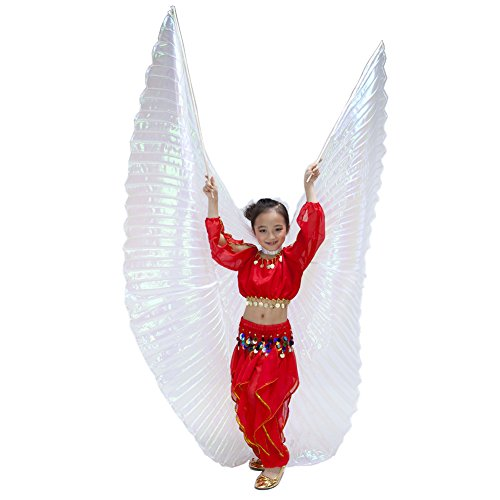 Dance Fairy Kids Belly Dance Isis Wing,White(No (Iridescent Fairy Wings)