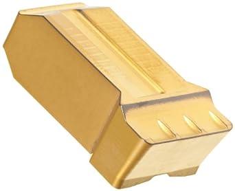 Sandvik Coromant CoroCut 1-Edge Carbide Grooving Insert, GR Geometry, Non-Handed, Neutral Cut, GC2135 Grade, Multi-Layer Coating, 1 Edges