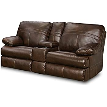 simmons loveseat. simmons upholstery 50981-63 miracle saddle bonded leather double motion console loveseat