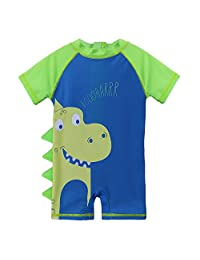 HUANQIUE Baby Toddler Boy Swimsuit Rash Guard Swimwear One Piece