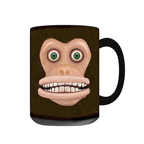 Maniacal Monkey Mug, Black (Black, 15oz)
