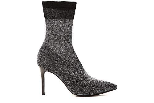 JHE993 Stretch Ankle Cafè Boots Striped Argento Ankle Noir 204 5HawxEqp