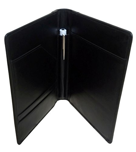 Red Spider Leather Prescription Pad Holder-Black