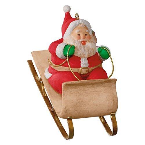 (Hallmark 2016 Sledding Santa Christmas Ornament)