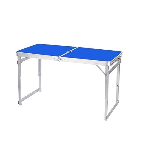 Amazon.com: Mesa plegable rectangular, ajuste de altura del ...