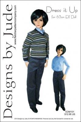 - Dress it Up Pattern for 63cm Elf Doll Male