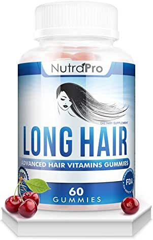 Long Hair Gummies – Anti-Hair Loss Supplement for Fast Hair Growth of Weak, Thinning Hair – Grow Long Thick Hair & Increase Hair Volume with Biotin And 10 Other Vitamins.For Men And Women.