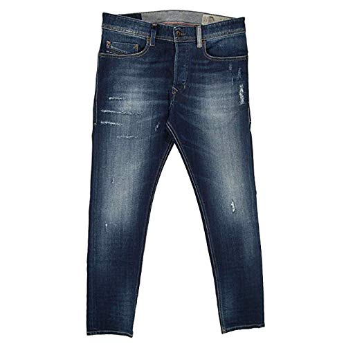Diesel Jeans Tepphar Slim Fit Cotton Dark Wash Blue Mid-Rise 00CKRI-084GF-01 (W 38 - L 32) ()