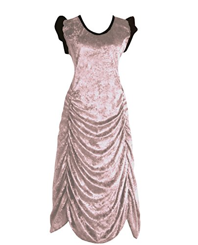 Victorian Valentine Steampunk Gothic Vintage Era Women's Dress Light Pink - Era Steampunk