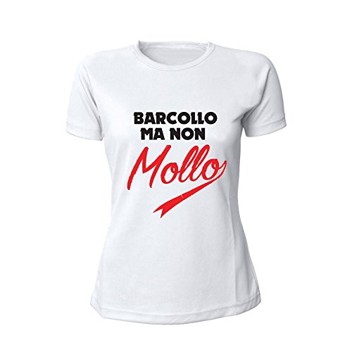 Marca Femminile Non Bicolore Altra T Barcollo Originale Ma shirt Maglietta Mollo Donna Personalizzata Bianco N0m8wynvO