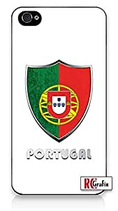 Premium Direct Print The Best Portugal SOCCER Football National Flag Badge Direct UV Printed iphone 4s Quality Hard Snap On Case for iphone 4sApple iphone 4s