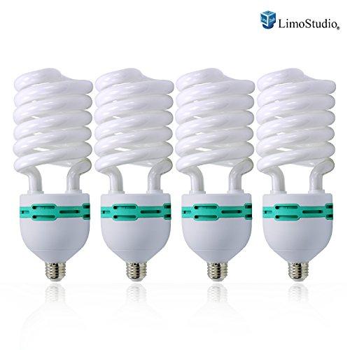 LimoStudio Full Spectrum Light Bulb- Four 45W Photography Photo CFL 6500K - Daylight balanced pure white light by LimoStudio, AGG874 by LimoStudio