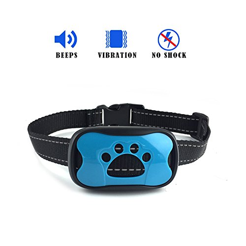 No shock Bark Collar - Best for dog training, Humane, 2017 version, Vibration collar, Sound & Vibration, Premium model, Train your dog easily, For small, Medium & large Dogs, Makes a great gift