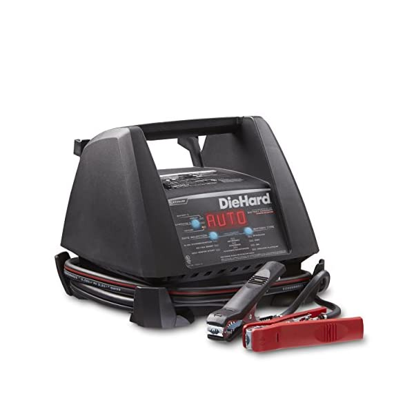 DieHard 71328 6/12V Platinum Shelf Smart Battery Charger And 15/125A Engine Starter