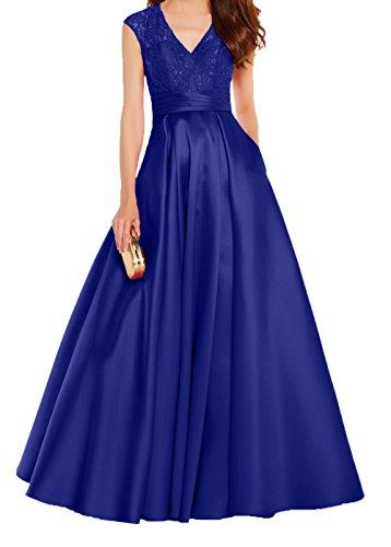 A Rot Promkleider Lang Blau Tanzenkleider Formalkleider 2018 Festlichkleider Abendkleider Neu Damen Royal Linie Spitze Charmant qz0ata