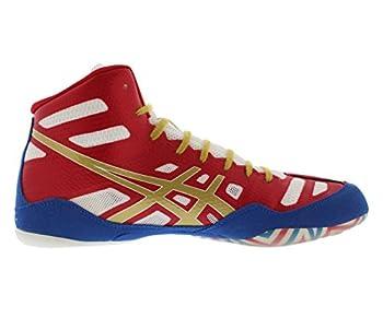 Asics Men's Jb Elite Wrestling Shoe,true Redolympic Goldwhite,8.5 M Us40.5 Eu 2