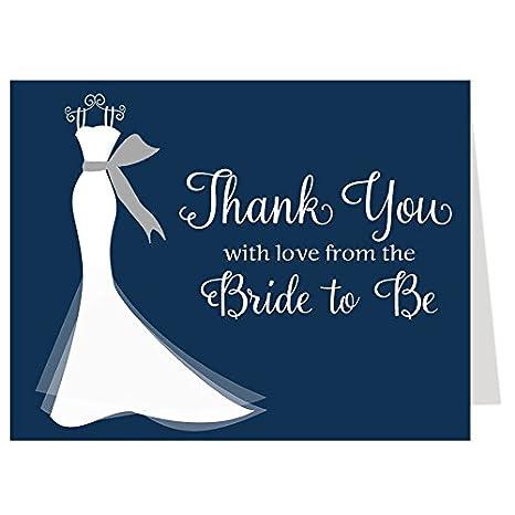Amazon bridal shower thank you cards wedding dress elegant bridal shower thank you cards wedding dress elegant gown gown shower junglespirit Images