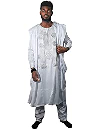 88c53cc787b African Apparel Agbada Clothing Embroidery Dashiki Shirts and Pants African  Men Outfits 3 Pieces