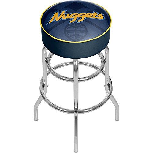 Trademark Gameroom NBA1000-DN2 NBA Padded Swivel bar Stool - Fade - Denver Nuggets ()