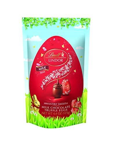 Lindt Lindor Chocolate Truffle Eggs, Milk Chocolate, 8 Count