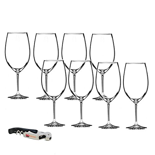 - Riedel Vinum Leaded Crystal Bordeaux/Cabernet Wine Glass Set, Buy 6 Get 8 with Bonus BigKitchen Waiter's Corkscrew
