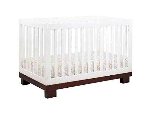 Babyletto Modo 3-in-1 Convertible Crib with Toddler Bed Conversion Kit, Espresso/White