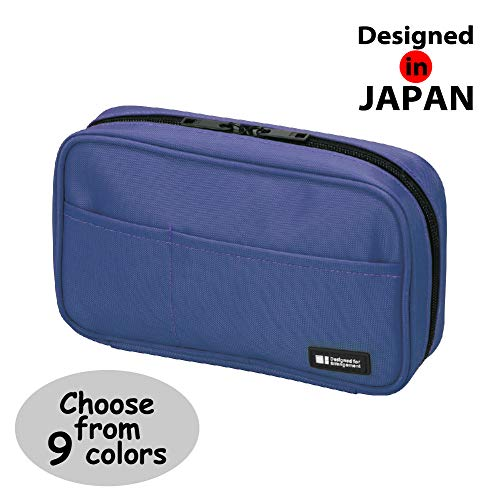 LIHIT LAB Pen Case, 7.9 x 2 x 4.7 inches, Blue (A-7551-108) ()