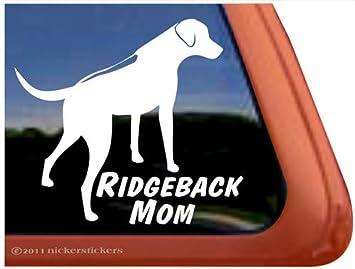 Rhodesian Ridgeback Mom Sticker Vinyl Auto Window