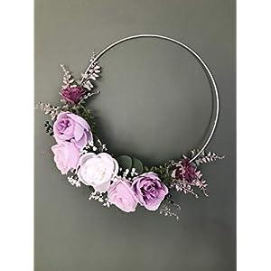 Modern Hoop Wreath, Contemporary Wreath, Boho Hoop, Bohemian Wreath, Boho Wedding, Bridal Shower Deco, Chic Deco, Mommykimstyle 112